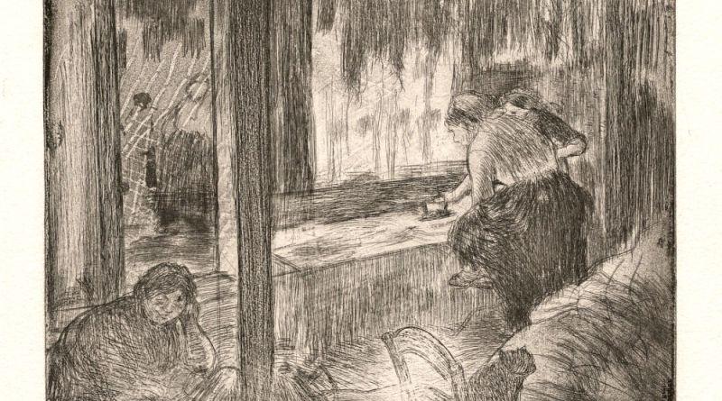 Les blanchisseuses d'Edgar Degas
