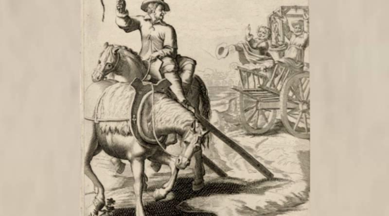 L'espiège mene la charette où était son maître et le laisse au gibet par J Lagniet