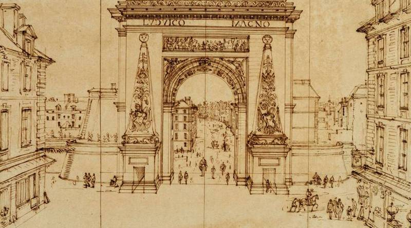 Vue de la Porte Saint-Denis à Paris par Israel Silvestre