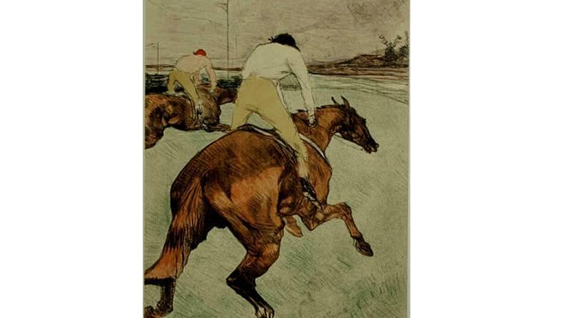 le jockey par Toulouse Lautrec
