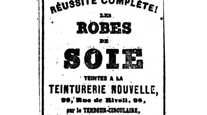 publicité pour les robes de soie teintes