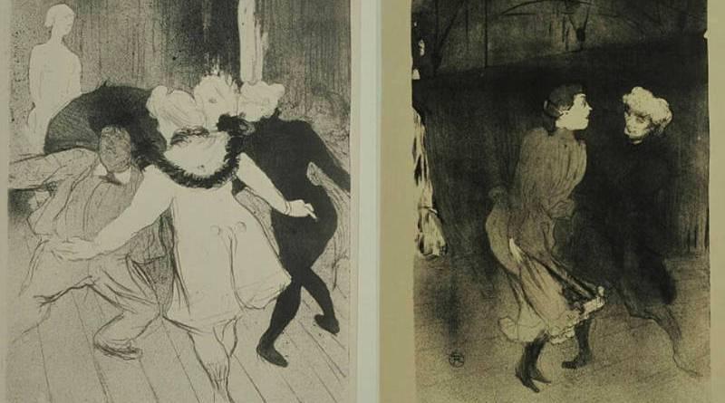 Répétitions aux Folies Bergères par Toulouse Lautrec
