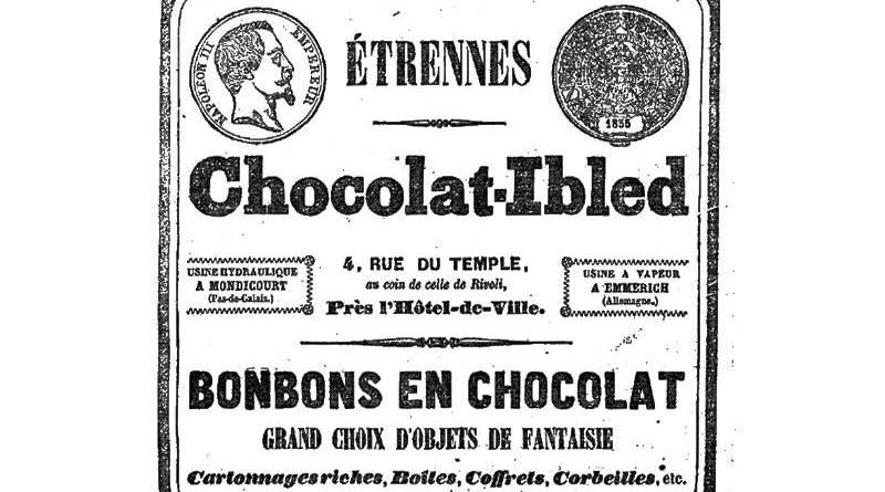 publicité pour les chocolats Ibled