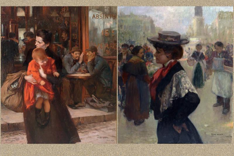 la mère et le trottin par Jules Adler