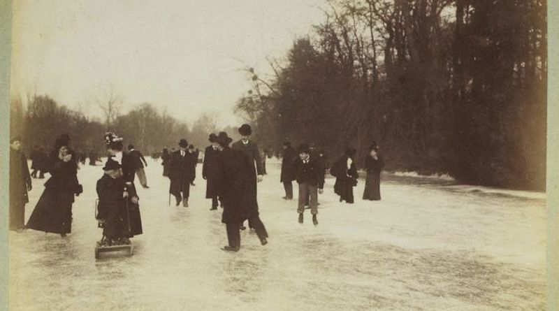 Patinage au Bois de Bologne en 1899 dans la collection Jules Beau