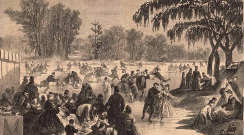 la fête des patins de 1865