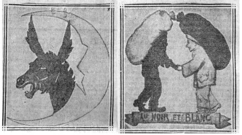 enseigne de Willette publiée dans Comoedia du 13 janvier 1924