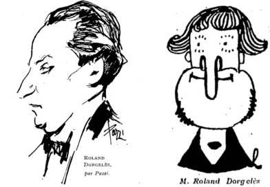 illustration de Roland Dorgeles - extraits de la Femme de France du 28 septembre 1930 et du Journal amusant du 21 février 1920