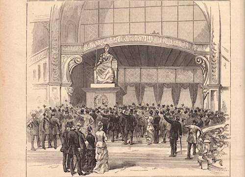 statue de la République d'Auguste Clésinger extrait du Monde illustré du 6 juillet 1878