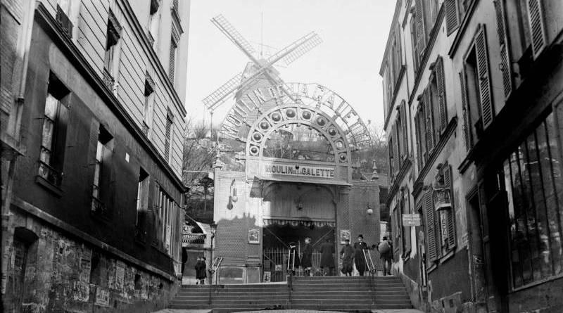 Facade du moulin de la Galette par l'Agence Rol en 1909