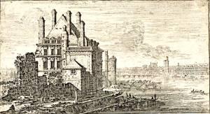 Hôtel de Nevers et le galeries du Louvre gravé par Israel Silvestre - départements des Arts Graphiques du Musée du Louvre