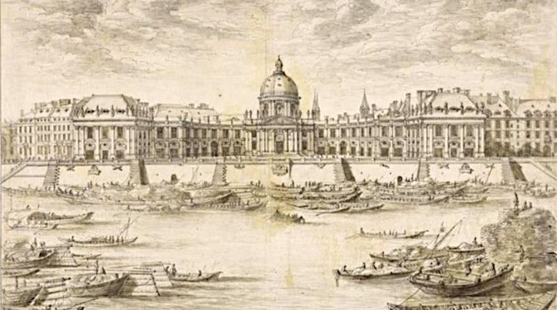 Vue du Collège des Quatre-Nations par Israël Silvestre - départements des Arts Graphiques du Musée du Louvre
