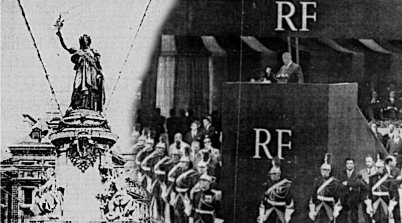 le discours de de Gaulle devant la Statue de la République