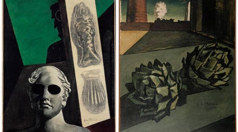 peintures de Giorgio de Chirico conservées au Centre Pompidou