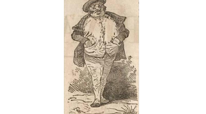 Illustration de la toilette des magasins de nouveauté - extrait du Charivari du 26 mars 1846