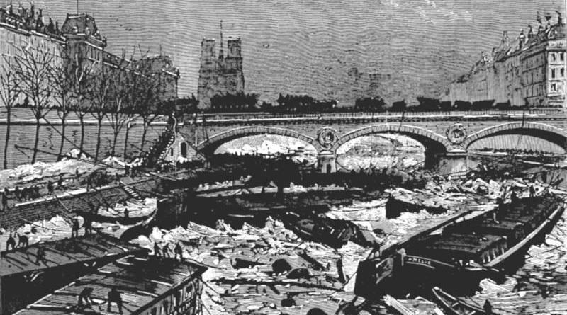 la débâcle du 3 janvier 1880 - extrait de l'Univers illustré du 10 janvier 1880