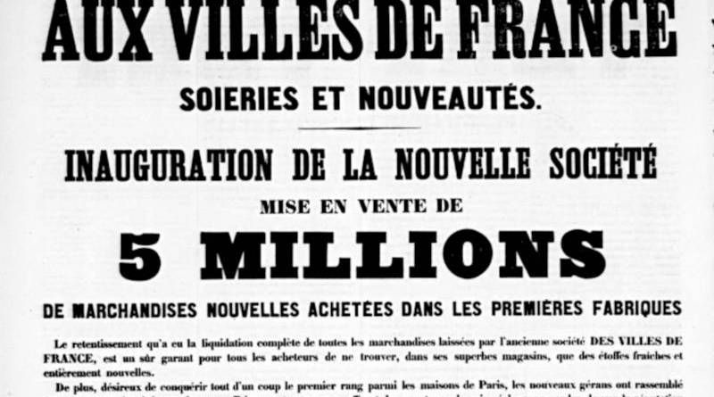 publicité pour les Villes de France - extrait du Vert Vert du 17 octobre 1858