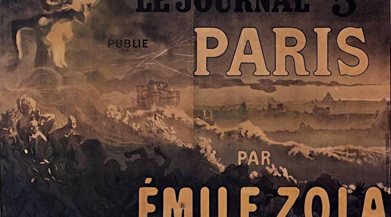 Le Journal publie Paris par Emile Zola affiche par Steinlen