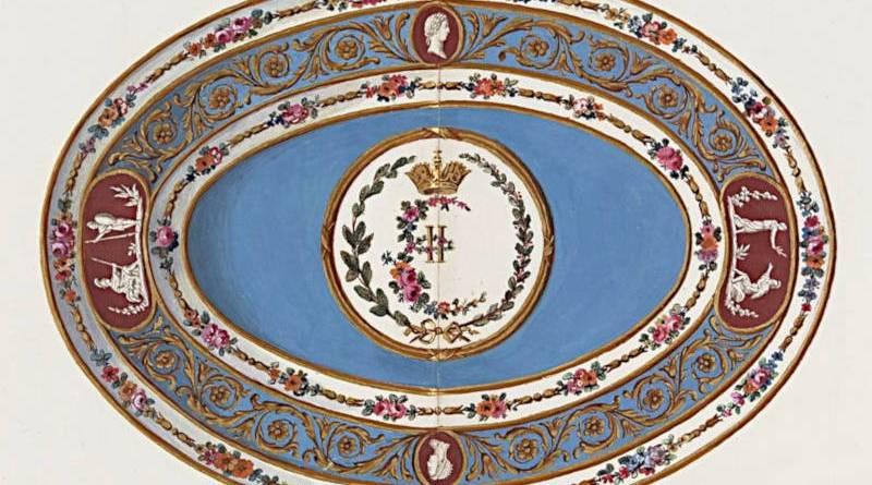 compotier ovale en porcelaine de Sèvres proposé à l'impératrice de Russie