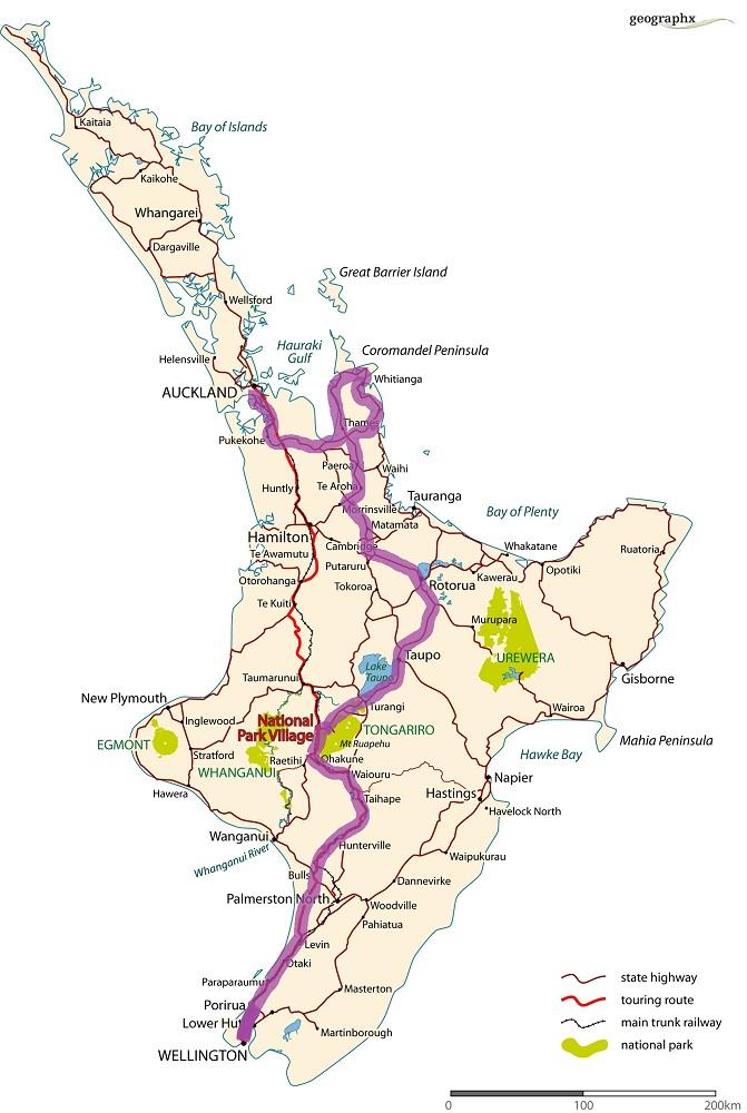 La carte de notre road trip du Nord