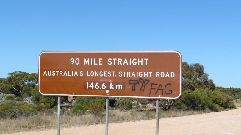 La ligne droite la plus longue d'Australie