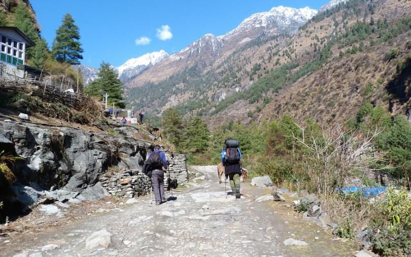 Annapurna : Carlos et Thomas marchent ensemble