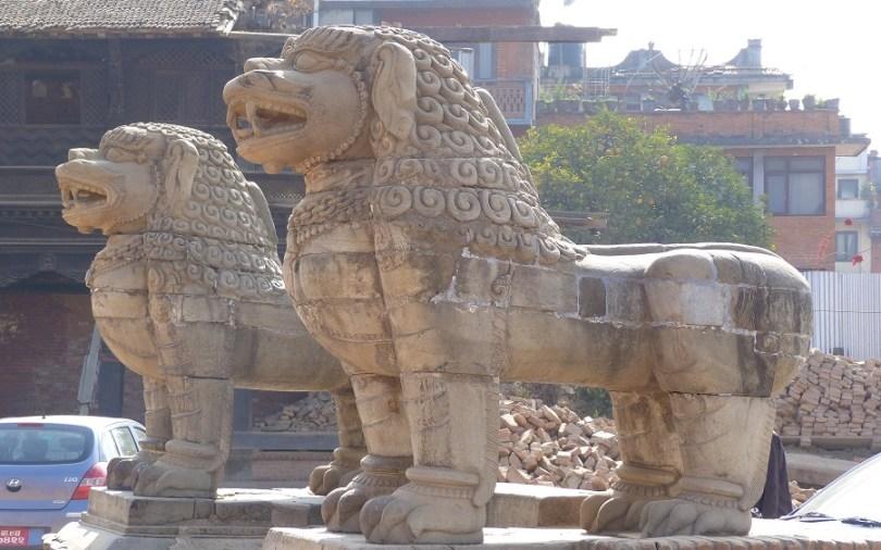 Lions temple Bahktapur
