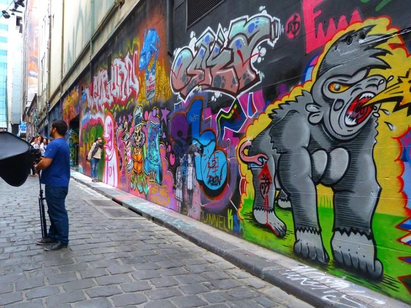 Melbourne street art peinture