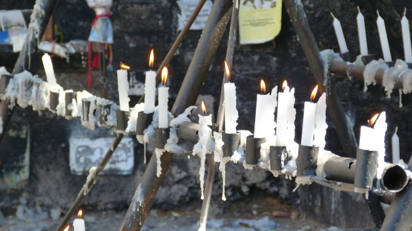 Chili Santiago Cerro San Cristobal bougies