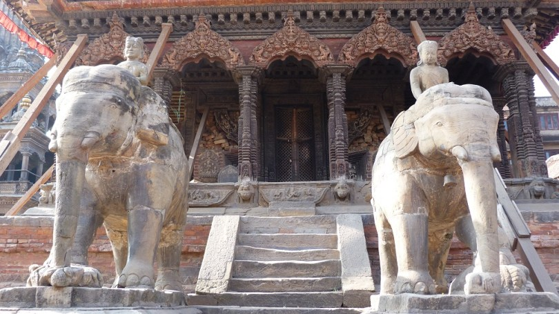 Elephants patan nepal durbar square