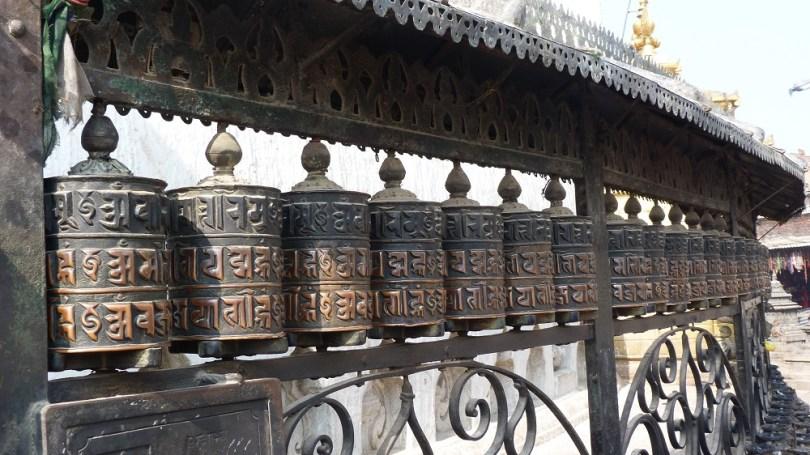 Nepal Swayambhunath moulin prieres
