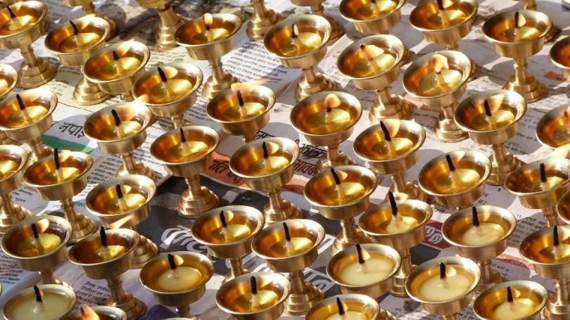 Nepal lampes prieres
