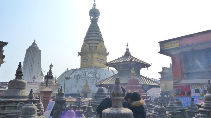 Nepal stupa swayambhunath autels