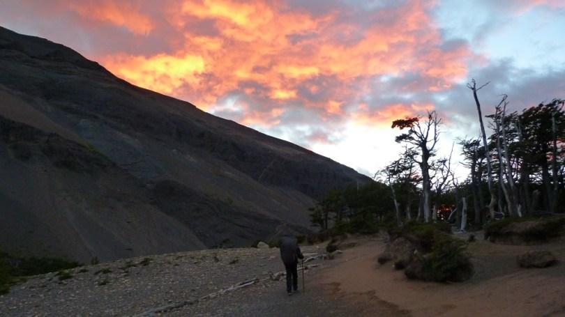 Torres del paine départ aube