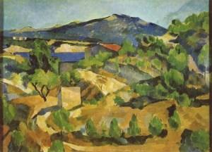 Montanha na Provence - Paul Cézanne Sua obra que demonstra que via formas geométricas na natureza e que serviu para o início do Cubismo.