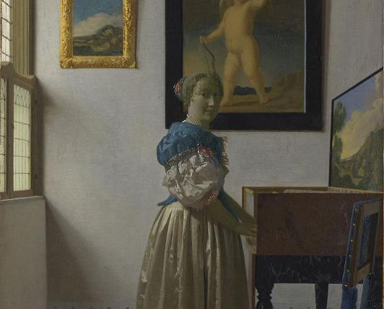 Dama de Pé ao Virginal, Johannes Vermeer