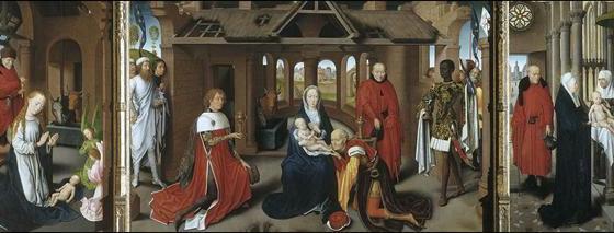 Adoração dos Reis Magos, Hans Memling