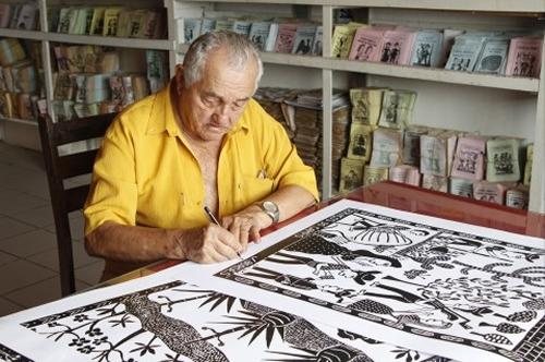 Xilogravurista e Cordelista J. Borges tem exposição em São Paulo