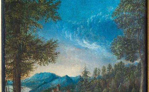 Vista do Danúbio junto de Ratisbona, Albrecht Altdorfer