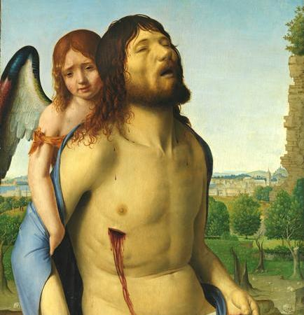Cristo Morto Amparado por um Anjo, Antonello de Messina