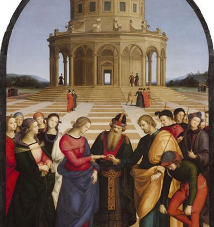 O Casamento da Virgem, Rafael Sanzio