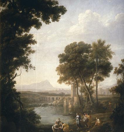 Paisagem com Moisés Salvo das Águas, Claude Lorrain