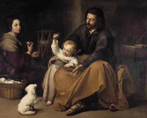 A Sagrada Família com um Passarinho, Bartolomé Esteban Murillo