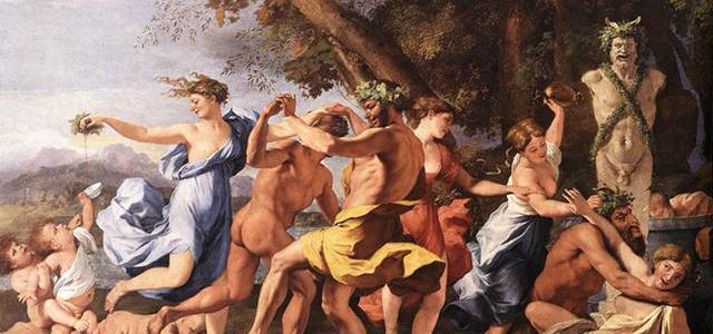 Bacanal diante de uma Estátua de Pã, Nicolas Poussin
