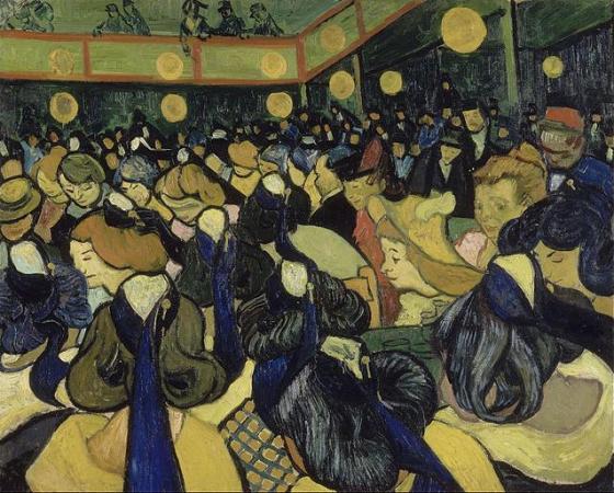 Salão de Dança em Arles, Van Gogh