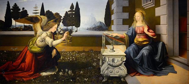 A Anunciação, Leonardo da Vinci