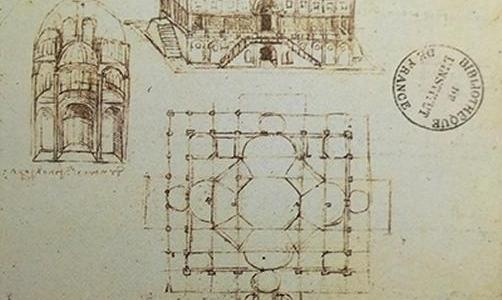 Estudos para igrejas de cúpulas centralizadas, Leonardo da Vinci