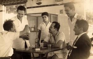 Com Rubens Colaço e outros amigos em Maceió