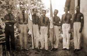 Lideranças integralistas na Usina Uruba, em Atalaia, no dia 15 de agosto de 1935