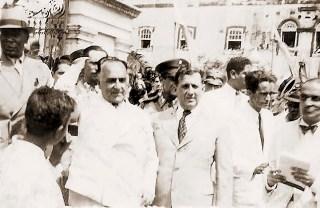 Getúlio Vargas e Osman Loureiro no Palácio dos Martírios